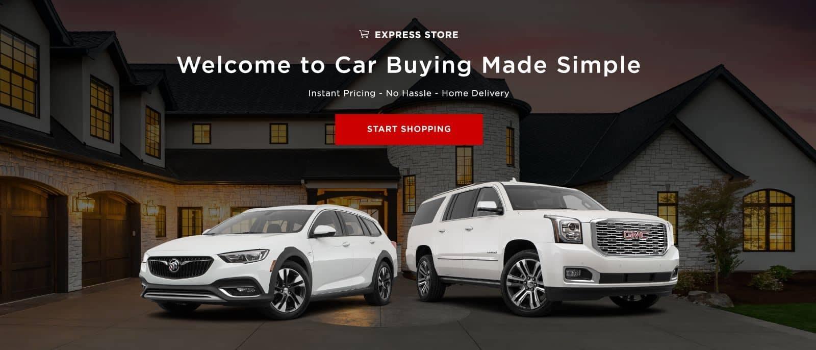 Express Store start buying banner