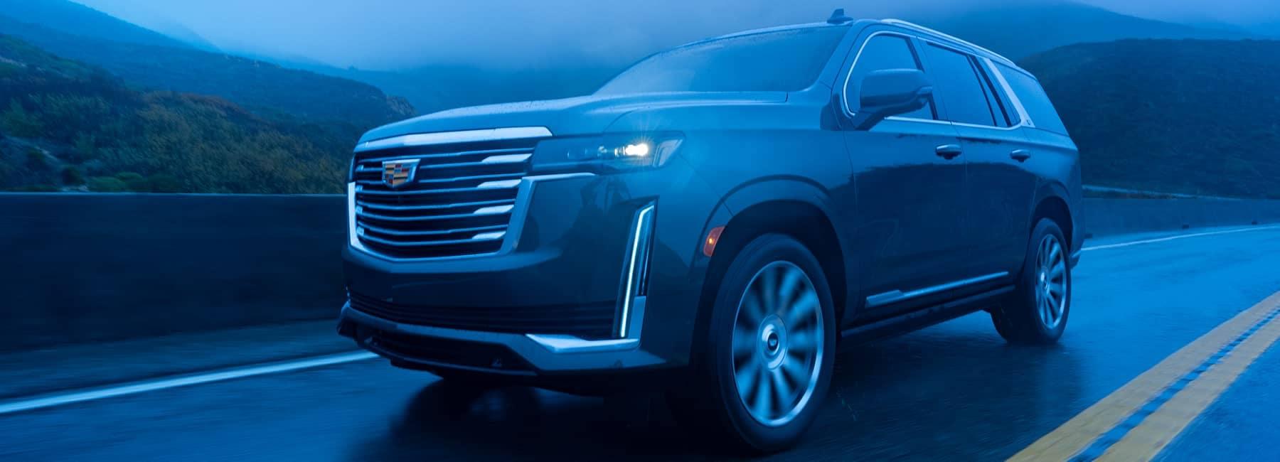 2021 Cadillac Escalade in evening fog
