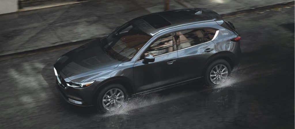 2021 Mazda CX-5 splashing in puddles