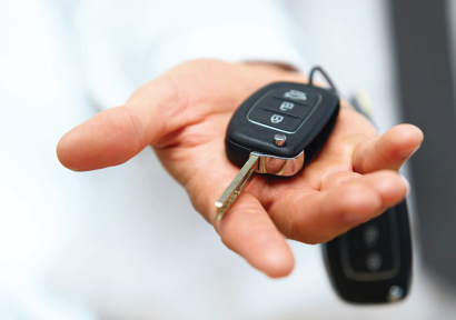 key fob in hand