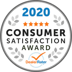 2020 Consumer Satisfaction Award DealerRater