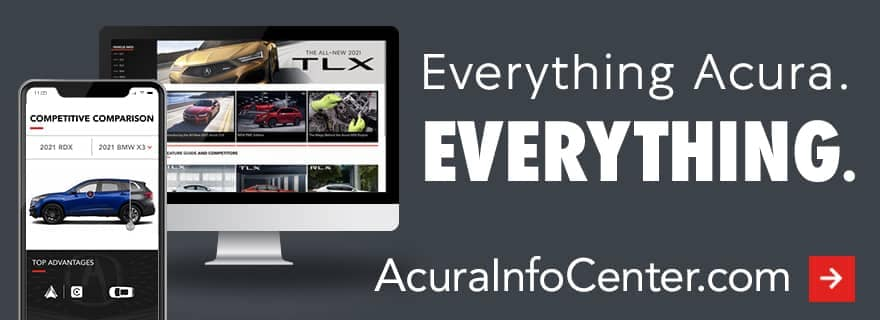 acura info center banner with cellphone and computer screen