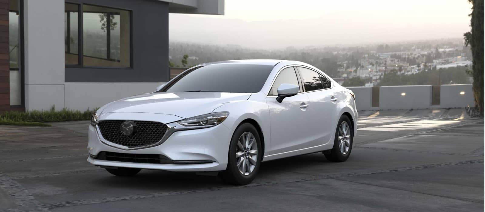 2021 Mazda6 parked at house