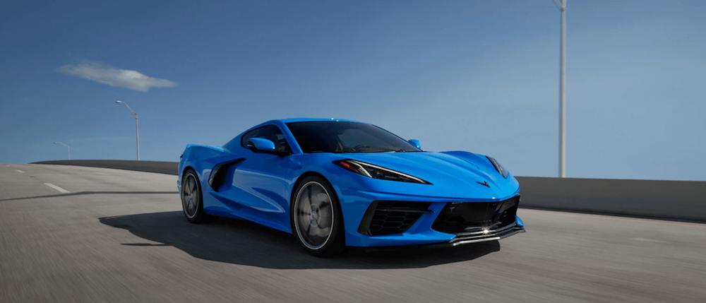 Blue Chevy Corvette