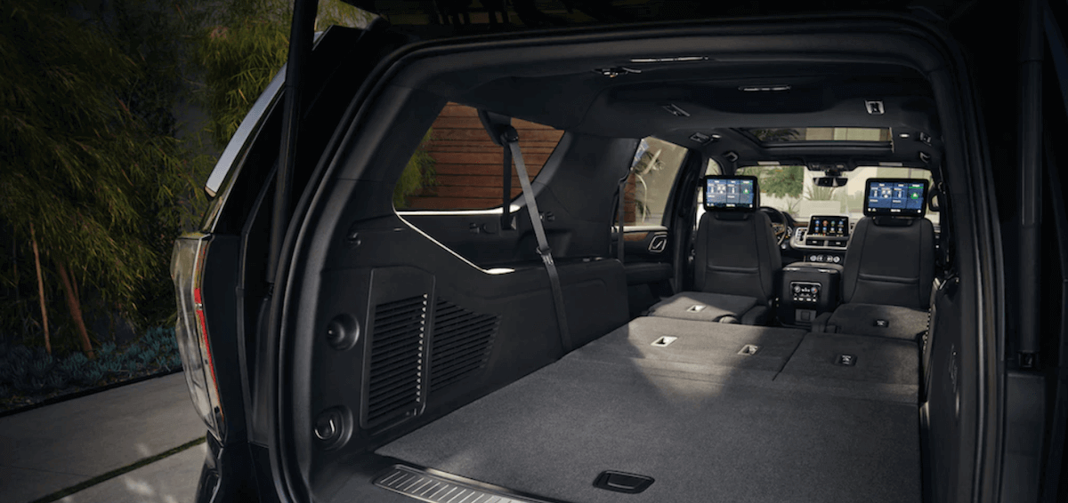 2020 Chevy Suburban cargo space with seats down