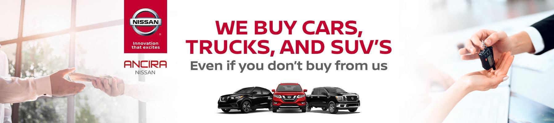 We Buy Cars and Trucks in San Antonio, TX