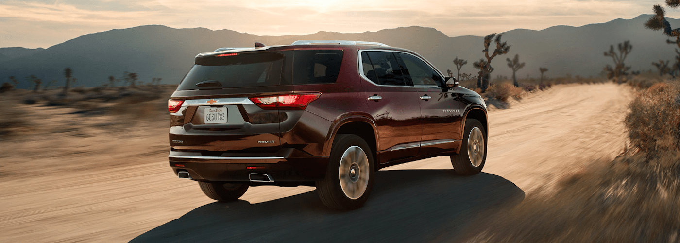 2020 Chevy Traverse driving on dirt road