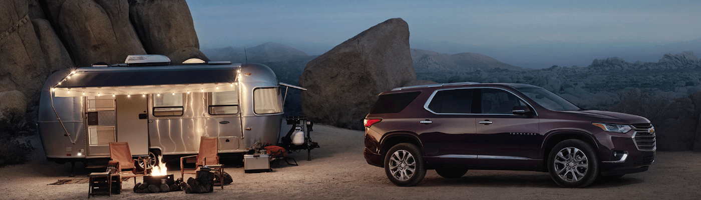 2020 Chevy Traverse parked at camping site