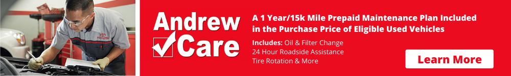 Andrew Care 1yr/15k mile prepaid maintenance plan