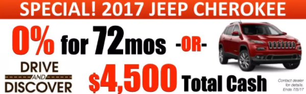 Jeep Drive and Discover Sales Event