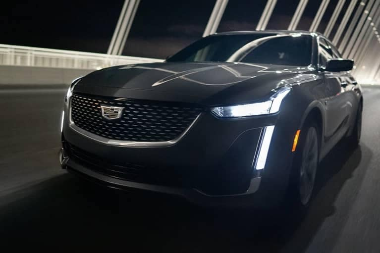 2020 CT5 Front Grille driving at night mobile