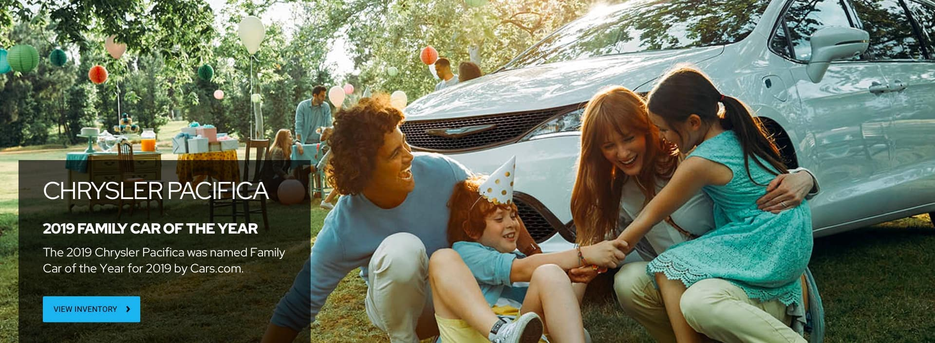 Family in front of their Chrysler Pacifica
