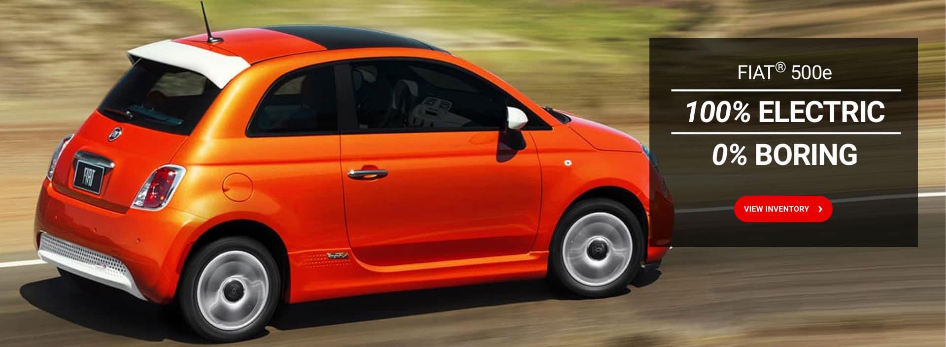 Fiat 500e 100% electric 0% boring