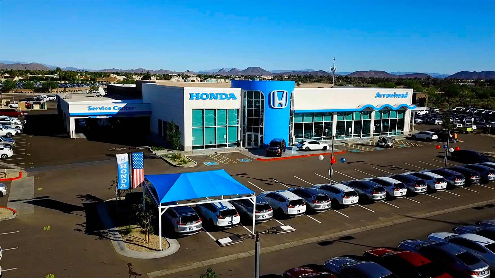 An exterior shot of a the dealership