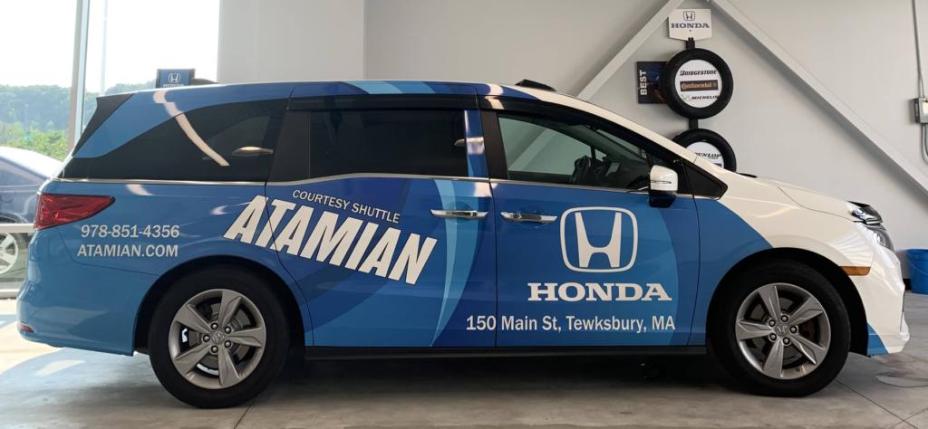 Atamian Honda Shuttle Service Van