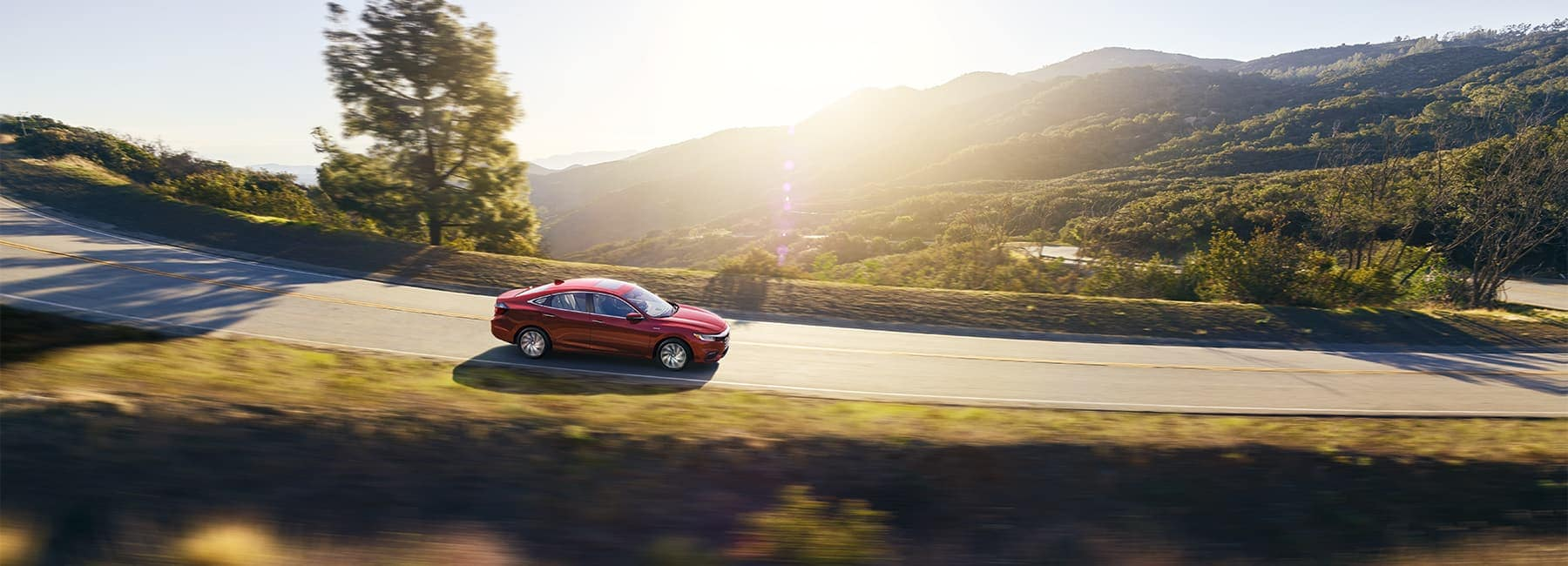 2021 honda insight driving in the mountains
