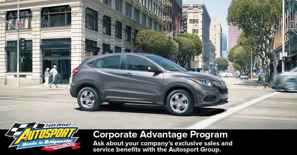autosport corporate Advantage program banner