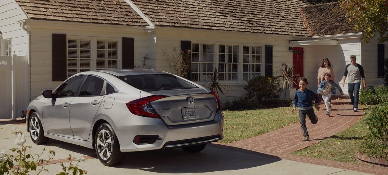Honda Sedan in Driveway