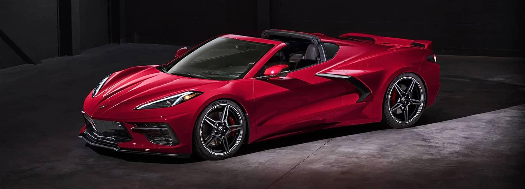 2020 Chevrolet Corvette Mid-Engine Sports Car convertible front side exterior
