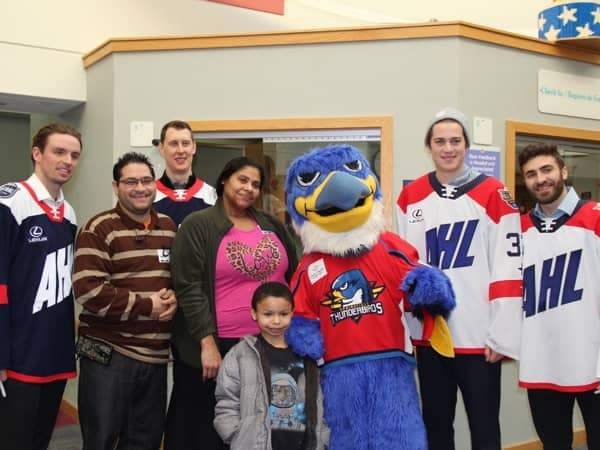 Community Image - AHL All-Star Weekend Visits Shriner's Hospital