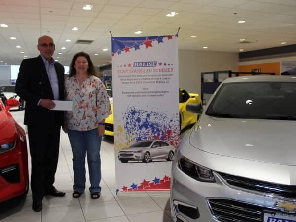 Community Image - Air Force Reserve Vet Wins $5K from Balise Chevy Radio Promo
