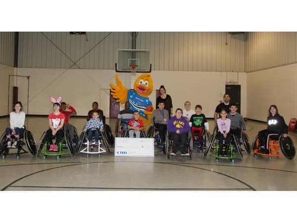 Community Image - Balise Supports CHD Wheelchair Basketball Program
