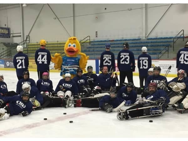 Community Image - Balise Supports Western Mass Knights Sled Hockey Team