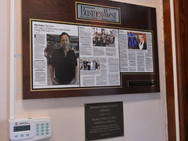 Community Image - Homer School Library Dedicated to Late Mike Balise