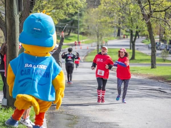 Community Image - Squeaky Attends Red Shoe Run at Ronald McDonald House