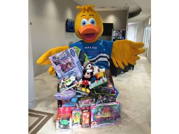 Community Image - Squeaky Balise Helps Collect Gifts for Annual Toys for Tots Drive