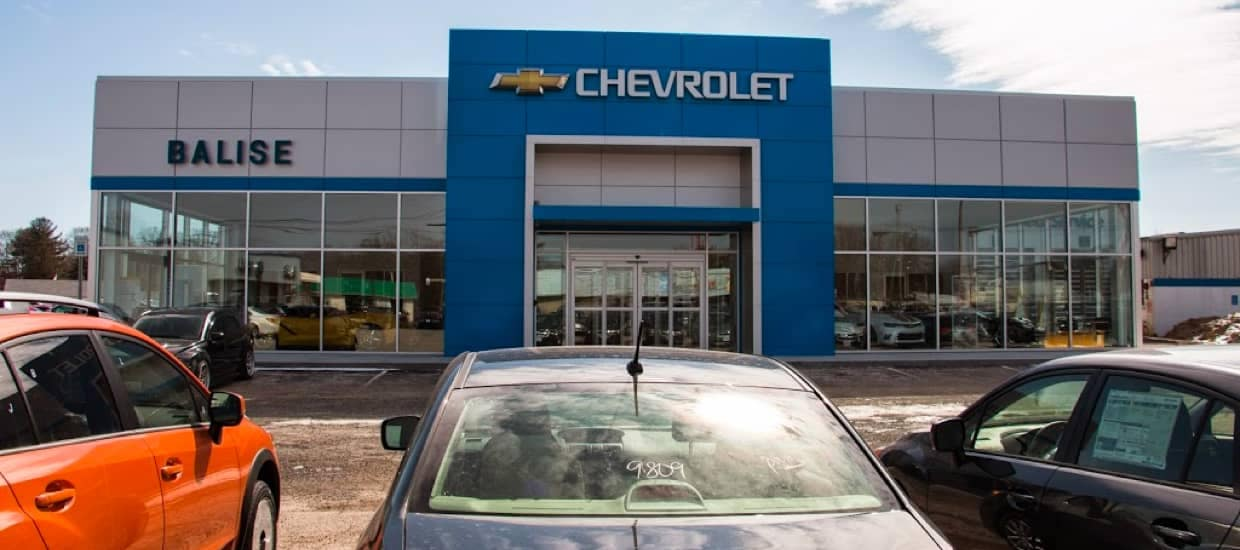 An exterior shot of Balise Chevrolet of Warnick