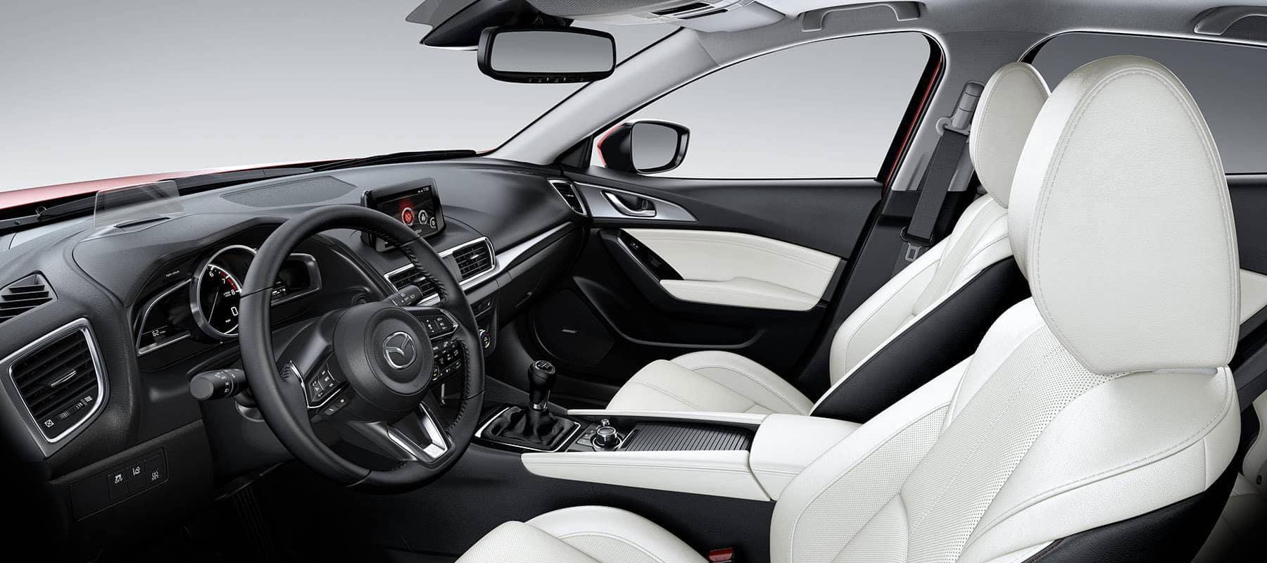 2018-mazda 3 sedan interior white