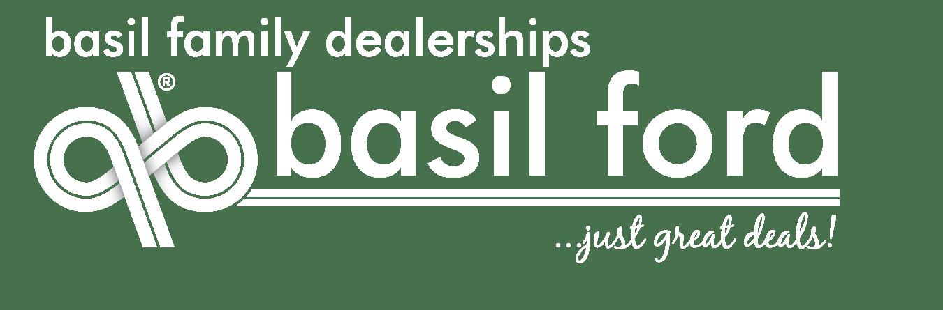 Basil Ford Logo Wide White