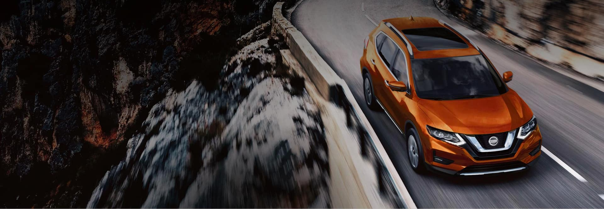 New Orange Nissan on Highway