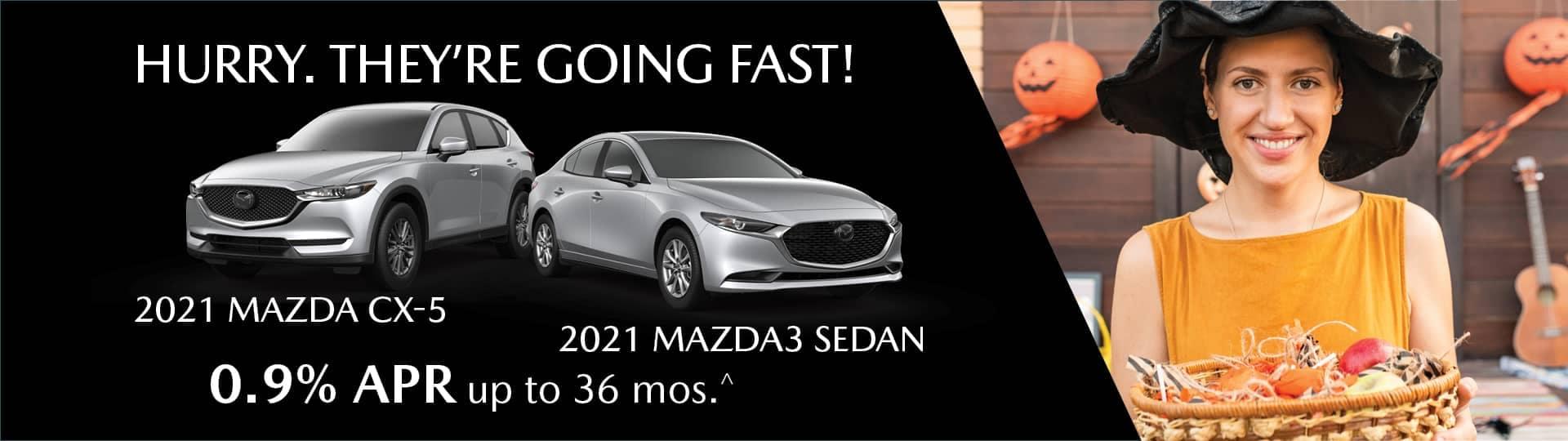 Hurry going fast mazda cx-5 and mazda3