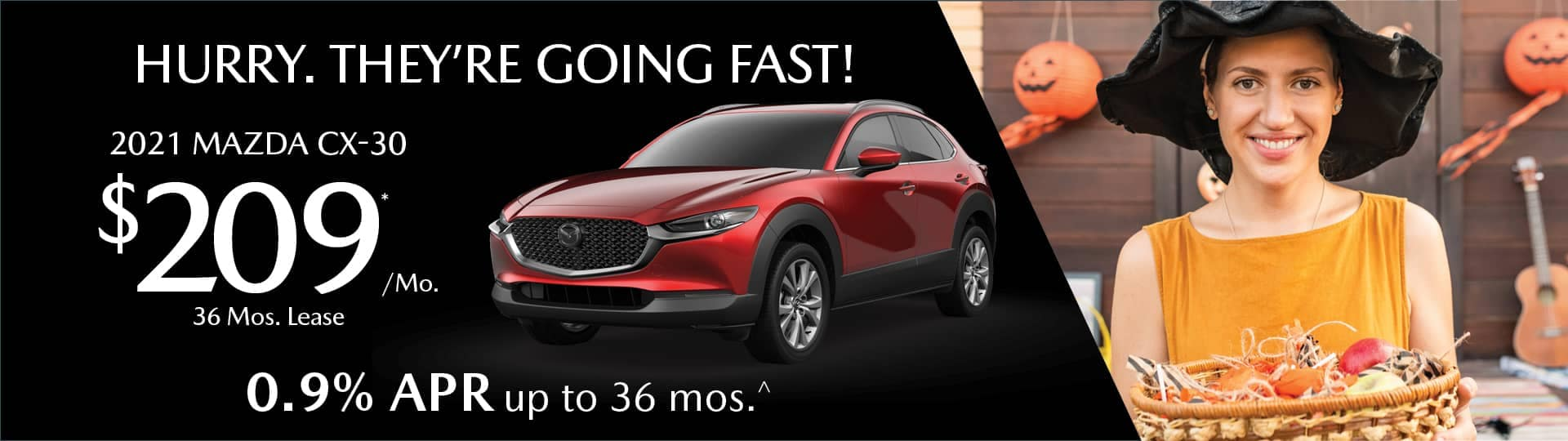 hurry going fast .9% apr on new mazda cx-30
