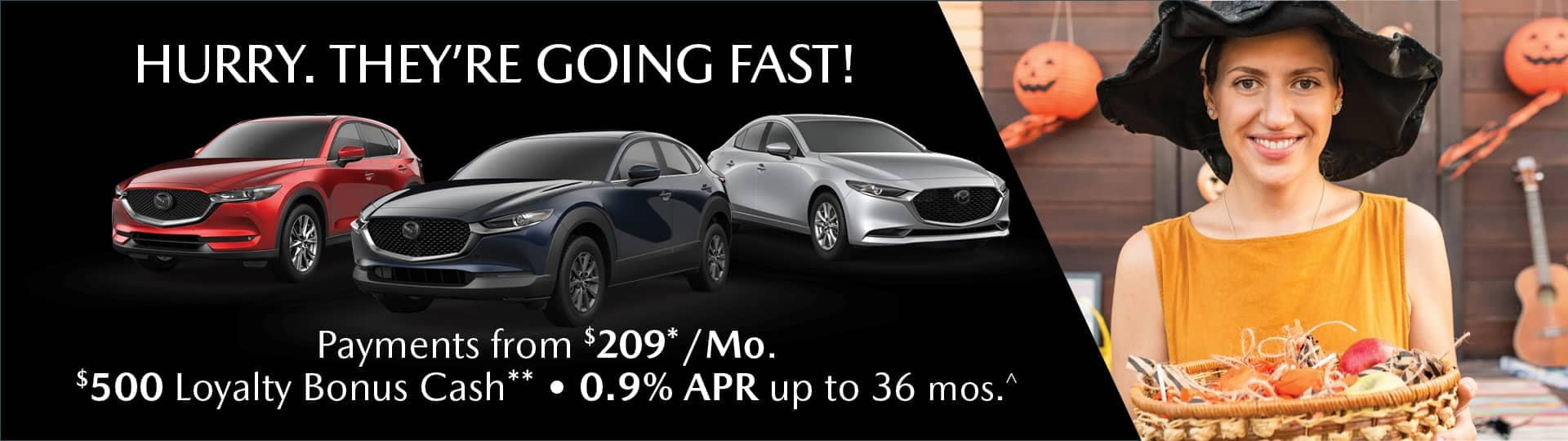 hurry going fast .9% apr $500 loyalty bonus cash