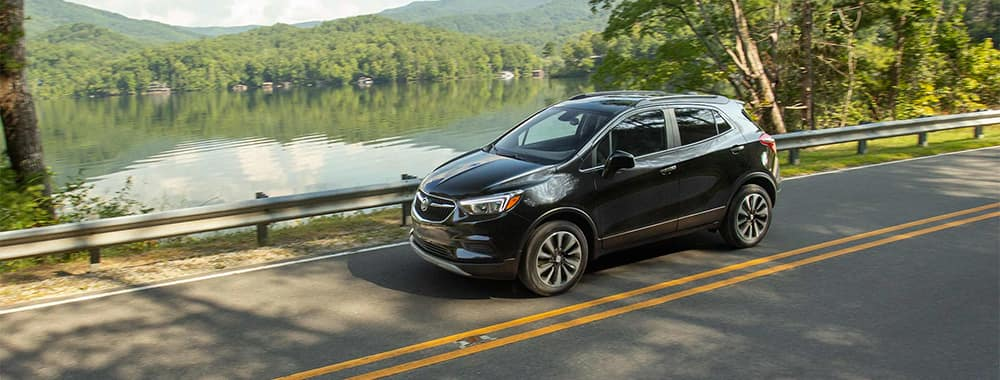 Buick Encore Driving by Lake