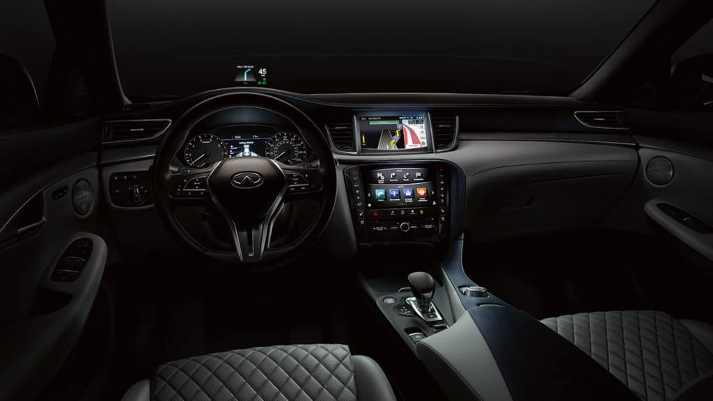 2019 INFINITI QX50 Intuitive Navigation with available Heads-Up Display