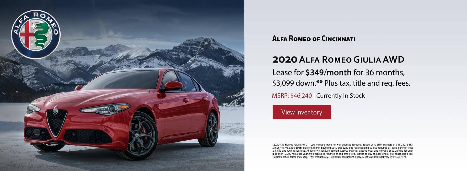 Alfa Romeo of Cincinnati Specials