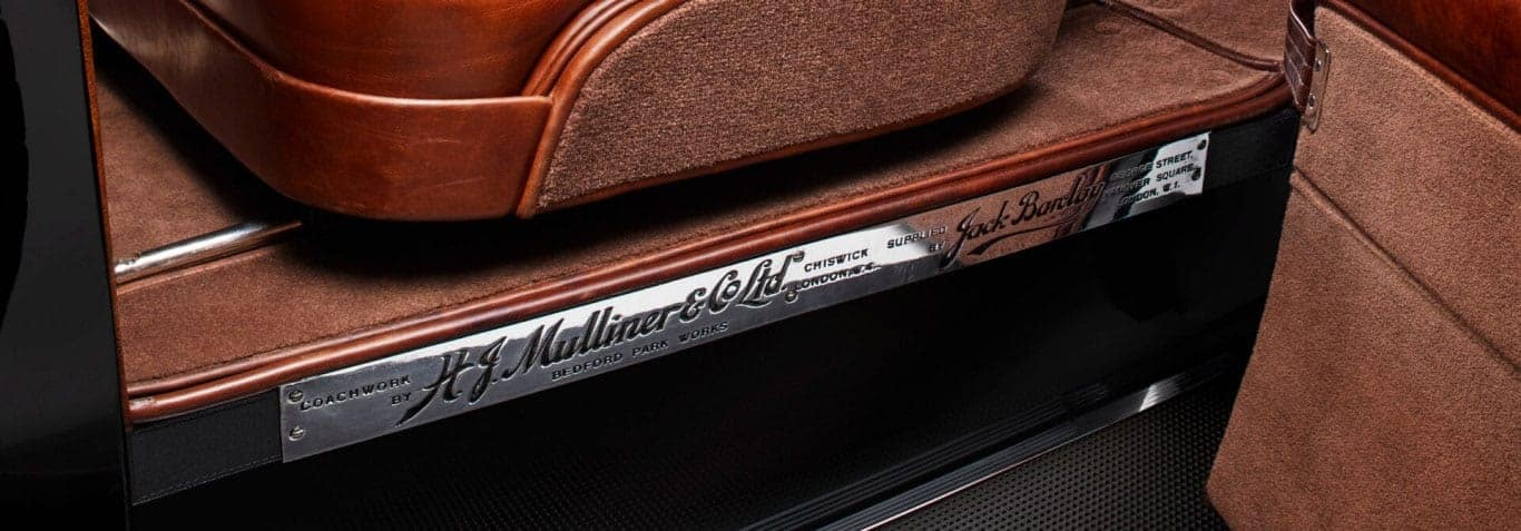 Close up of the detailed craftsmanship on the Mulsanne W.O. Edition