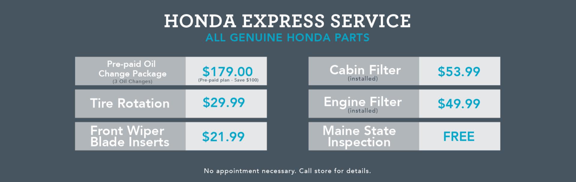 Honda Express Service banner