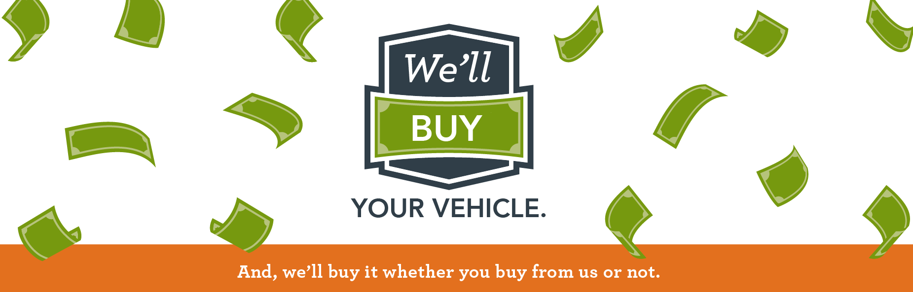 we'll buy your vehicle Banner