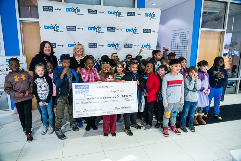 class receives Drive for Education donation
