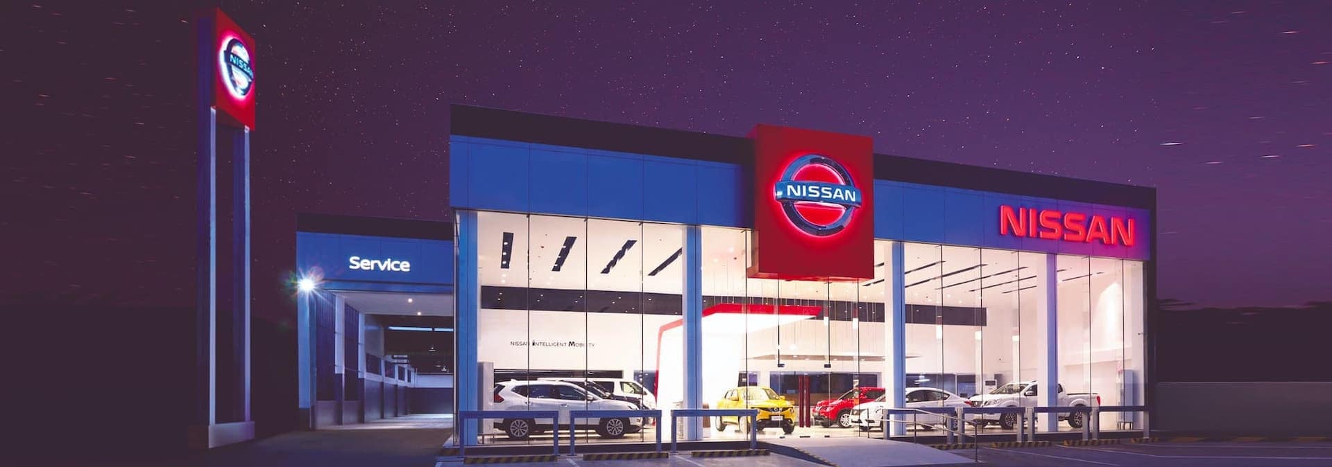 Nissan Dealership at Night