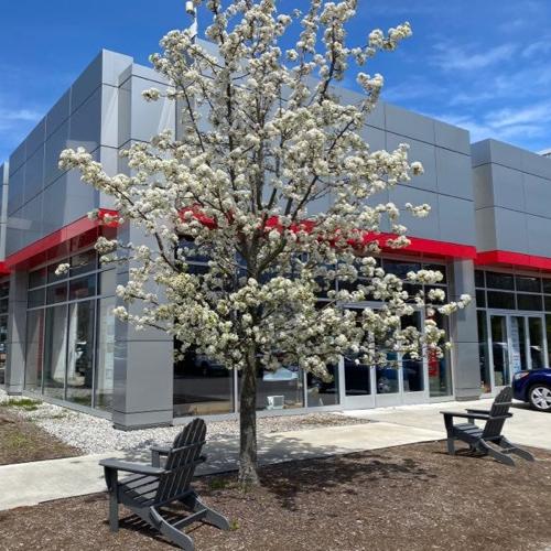 exterior dealership lounge
