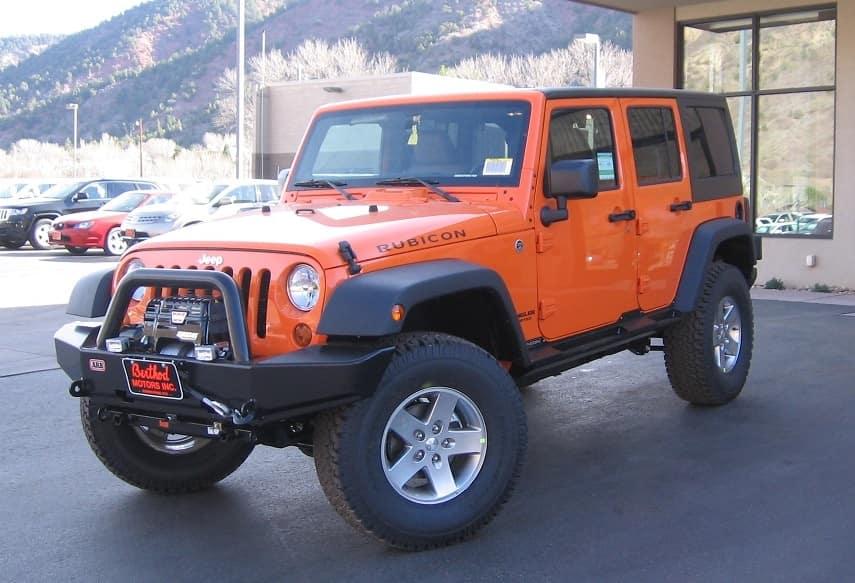 Jeep Rubicon orange