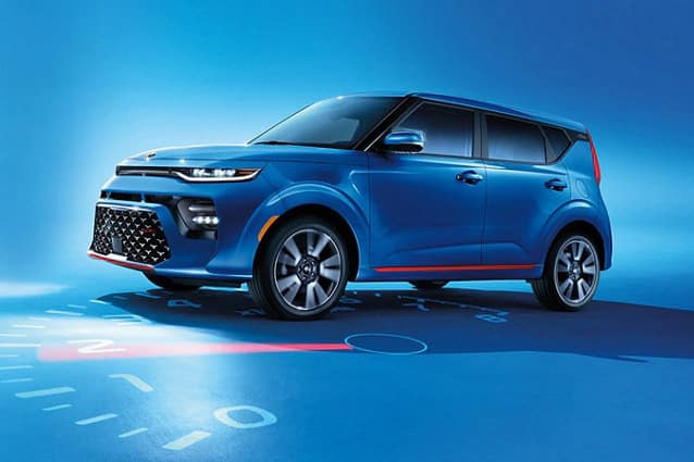 2020 kia soul blue clock