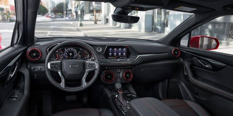 2020 Chevy Blazer interior