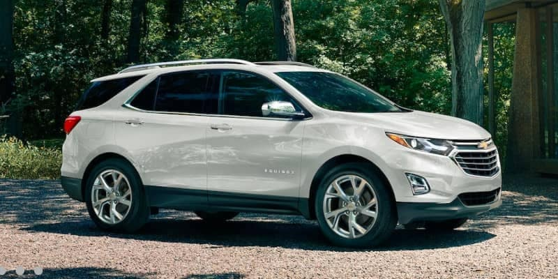 2019 Chevrolet Equinox in white parked